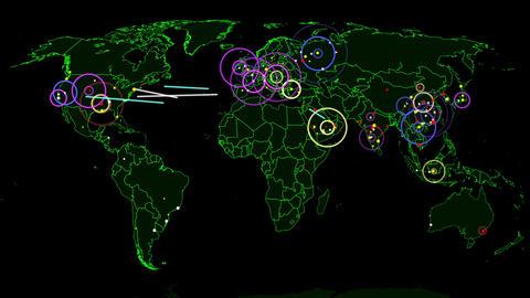 4K Hacker War Super Modern Digital Data Hacking World Map Simulation v1 1 Animation