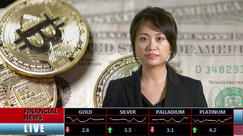 News presenter financial news line bc notes bk Image