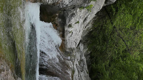 Vertical video. Bath Youth (Lake Kara-Gaulle), the Grand Canyon of Crimea Live Action
