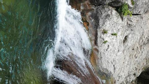 Vertical video. Bath Youth (Lake Kara-Gaulle), the Grand Canyon of Crimea Footage