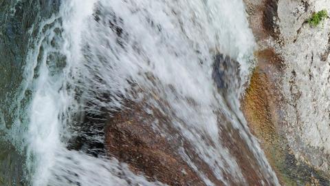 Vertical video. Grand Canyon. Bath Youth (Kara-Gol lake). Crimea Live Action