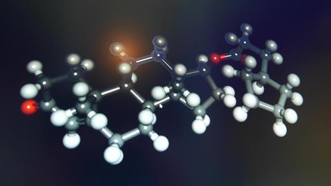 4K Testosterone Molecular System Bio Laboratory Display Footage