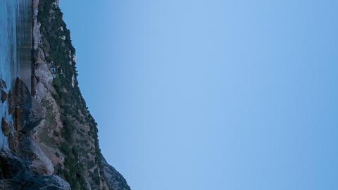 Vertical video. Mount Kush-Kaya, Laspi Bay, Crimea. TimeLapse Footage