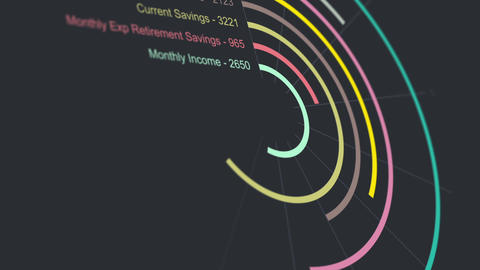 Fictional Retirement Savings Chart Animation 1 Animation