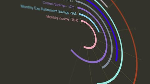 Fictional Retirement Savings Chart Animation 3 Animation