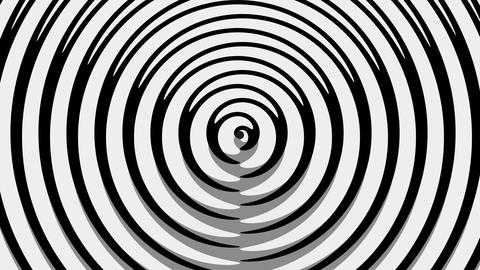 GrayTrip - 4k Black And White Psychedelic Pattern Video Background Loop CG動画素材
