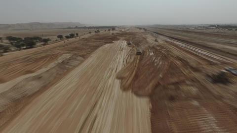 construction of a water channel Wadi Al - Sali in Riyadh (Saudi Arabia) Footage