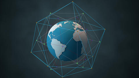 Satellite System Network Connecions around The Globe Modern 3D Animation 1 Animation