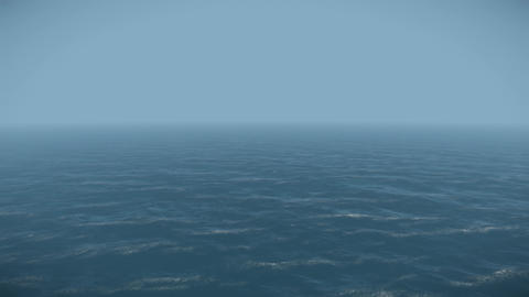 4K Endless Ocean Moving Aerial View 3D Animation 3 Animation