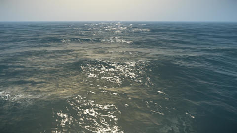 4K Endless Ocean Static Aerial View 3D Animation 2 Animation