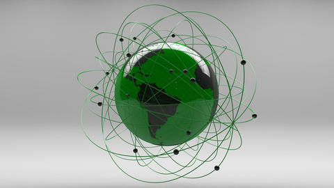Modern Design Earth Science Network Concept 3 Animation