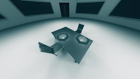 4K Modern High Security Interrogation Room 2 Animation