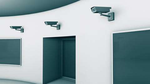 4K Modern High Security Interrogation Room with Many CCTV Cameras 8 Animation