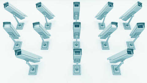Many Security Cameras Looking onto the Viewer 3D Animation 2 Animation
