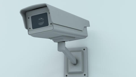 Push In to Security Camera Looking onto the Viewer Closeup 3D Animation 1 Animation