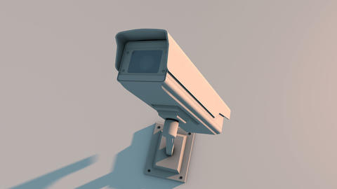 Push Into Security Camera Looking at the Viewer Closeup... Stock Video Footage