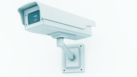 Security Camera Checking the Area Closeup 3D Animation 2 Animation