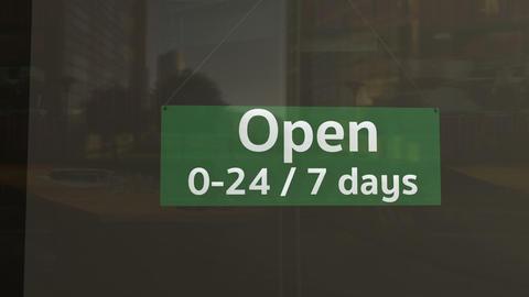Open Sign on Shop Restaurant Entrance 6 Animation