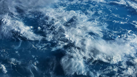 Planet Earth seen from the ISS. Beautiful Planet Earth observed from space Live Action
