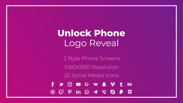 Unlock Phone Social Logo Motion Graphics Template