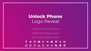 Unlock Phone Social Logo モーショングラフィックステンプレート