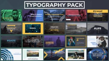 Typography Pack After Effects Template