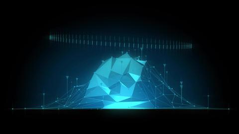 digital mountain CG動画素材