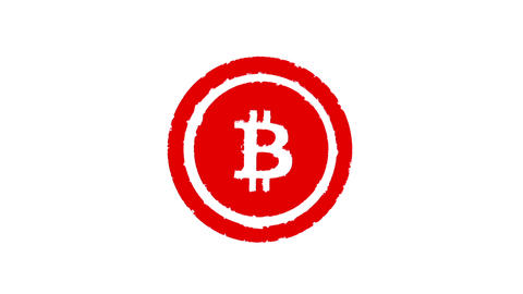Stamp BITCOIN. Alpha channell Image