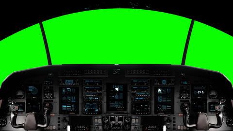 Futuristic Spaceship Cockpit on a Green Screen Footage