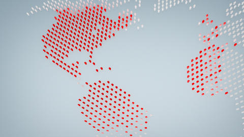 Social network world map animation Stock Video Footage