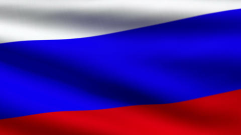 Russian flag Stock Video Footage