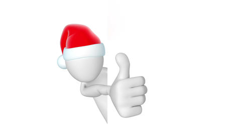 Santa, thumbs up Stock Video Footage