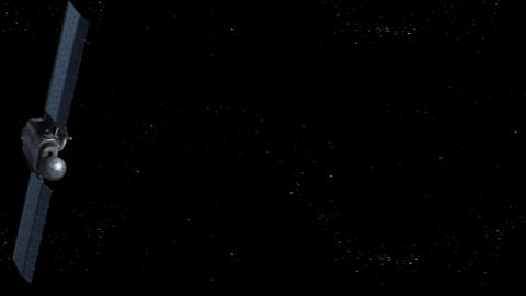 Satellite is orbiting the Earth Stock Video Footage