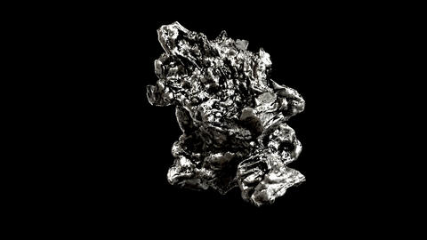 the Silver nugget Stock Video Footage