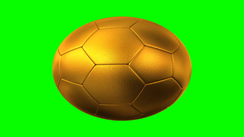 Rotating Golden Soccer Ball stock footage