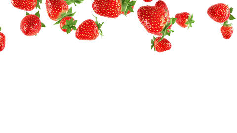 Falling strawberries Stock Video Footage