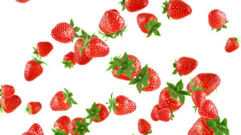 Falling strawberries Animation