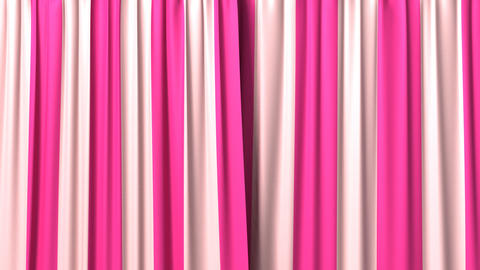 Opening and closing striped curtain Stock Video Footage