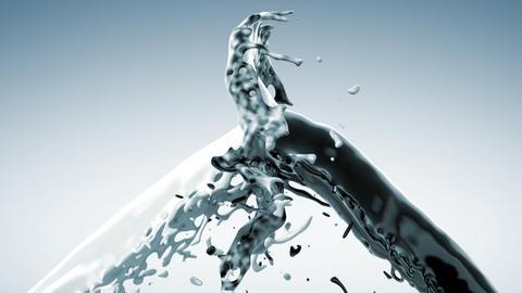 splashing liquid Stock Video Footage