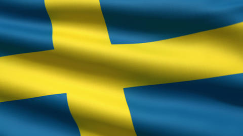 Swedish flag Stock Video Footage