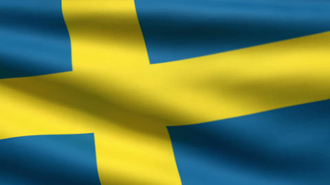 Swedish flag Animation