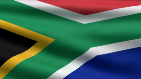 South African flag Stock Video Footage