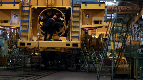 Dump truck production line 10 Footage