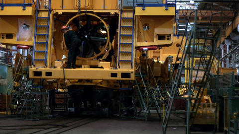 Dump truck production line 10 Stock Video Footage