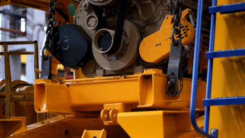 Dump truck production line Stock Video Footage