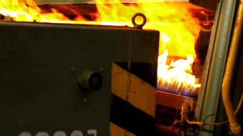 Hardening of steel Stock Video Footage