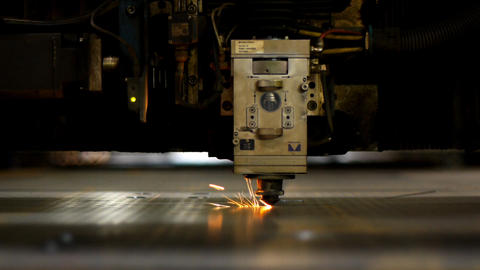 Industrial laser Footage