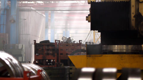 Industrial lathe Stock Video Footage