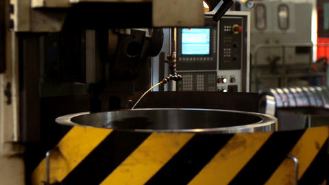 Industrial lathe Footage