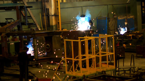 Industrial welding Stock Video Footage